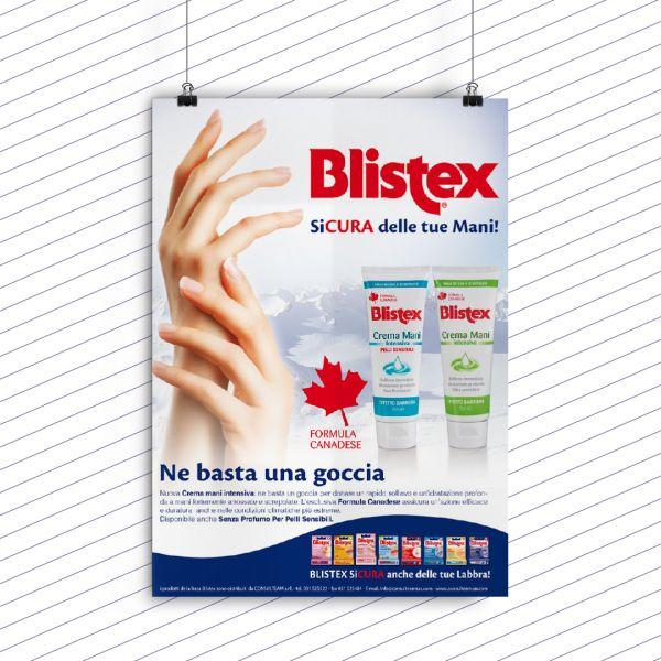 Campagna stampa Blistex creme mani