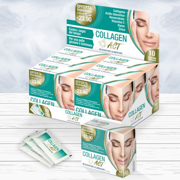 Packaging ed espositore da banco Collagen Act